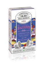 """Compagnia dell'Arabica® 10 composteerbare koffiecups El Salvador """"SHG"""" (Strictly High Ground) 'Single Origin' voor Nespresso® machines"""