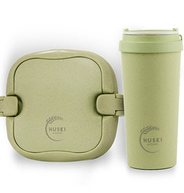 Huski Home Rice Husk Set  eco beker en lunchbox