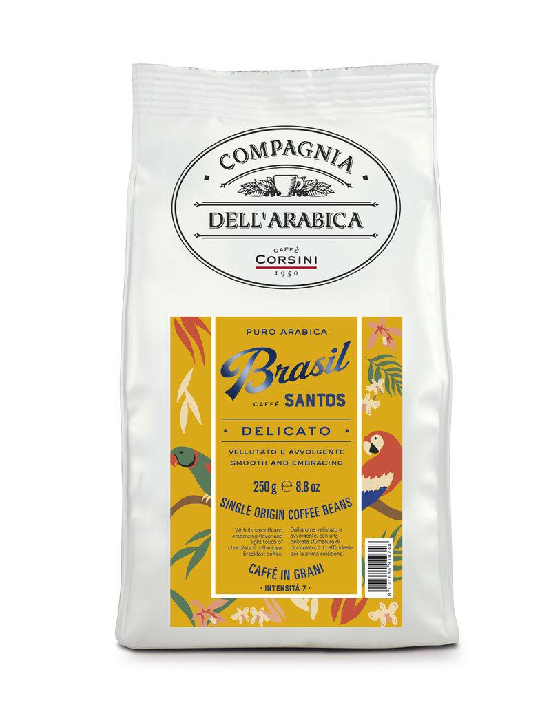 Compagnia dell'Arabica® Brasil Santos 250 gram single origin koffiebonen