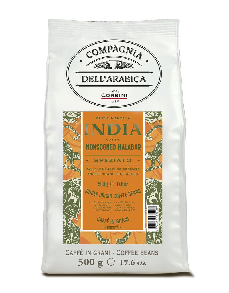 Compagnia dell'Arabica® India Monsooned Malabar 'Single Origin' koffiebonen 500 gram