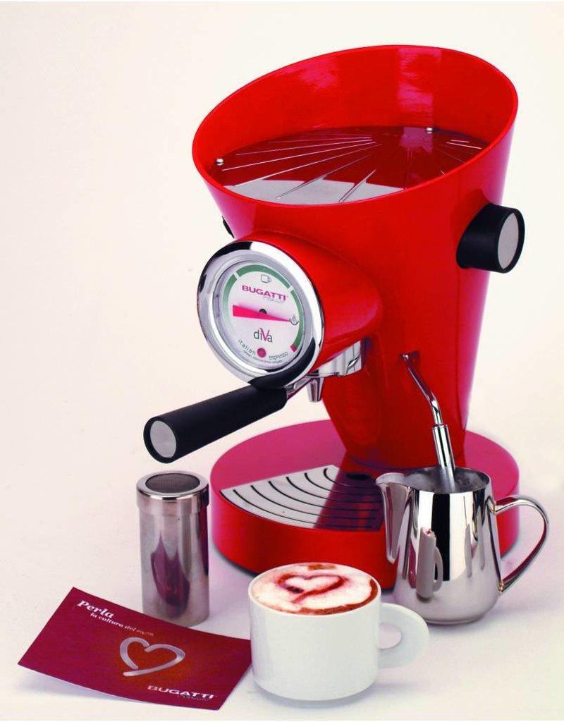 Bugatti Diva espressomachine Hot Rosso