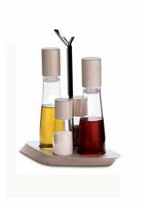 Design Trattoria Olie/Azijn/Peper/Zout Stel Whitewash