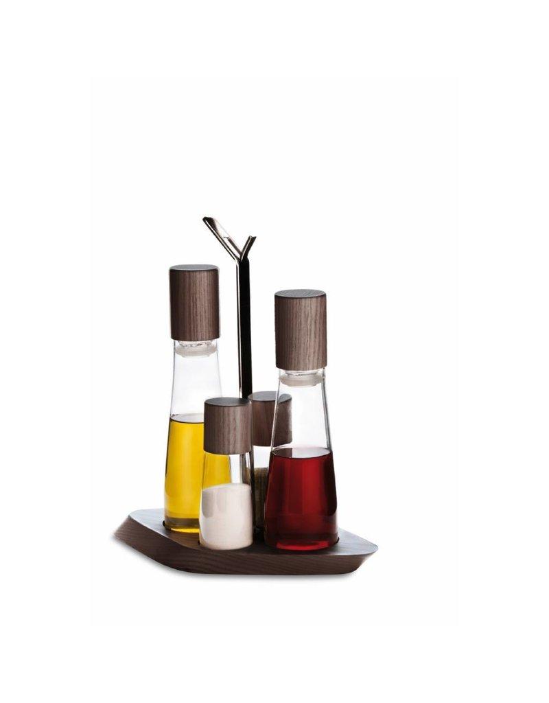 Design Trattoria Olie/Azijn/Peper/Zout Stel Tobacco
