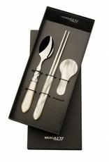 Bugatti Aladdin Chopstickset 1 persoons Ivory