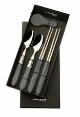Bugatti Aladdin Chopstickset voor 2 personen zwart