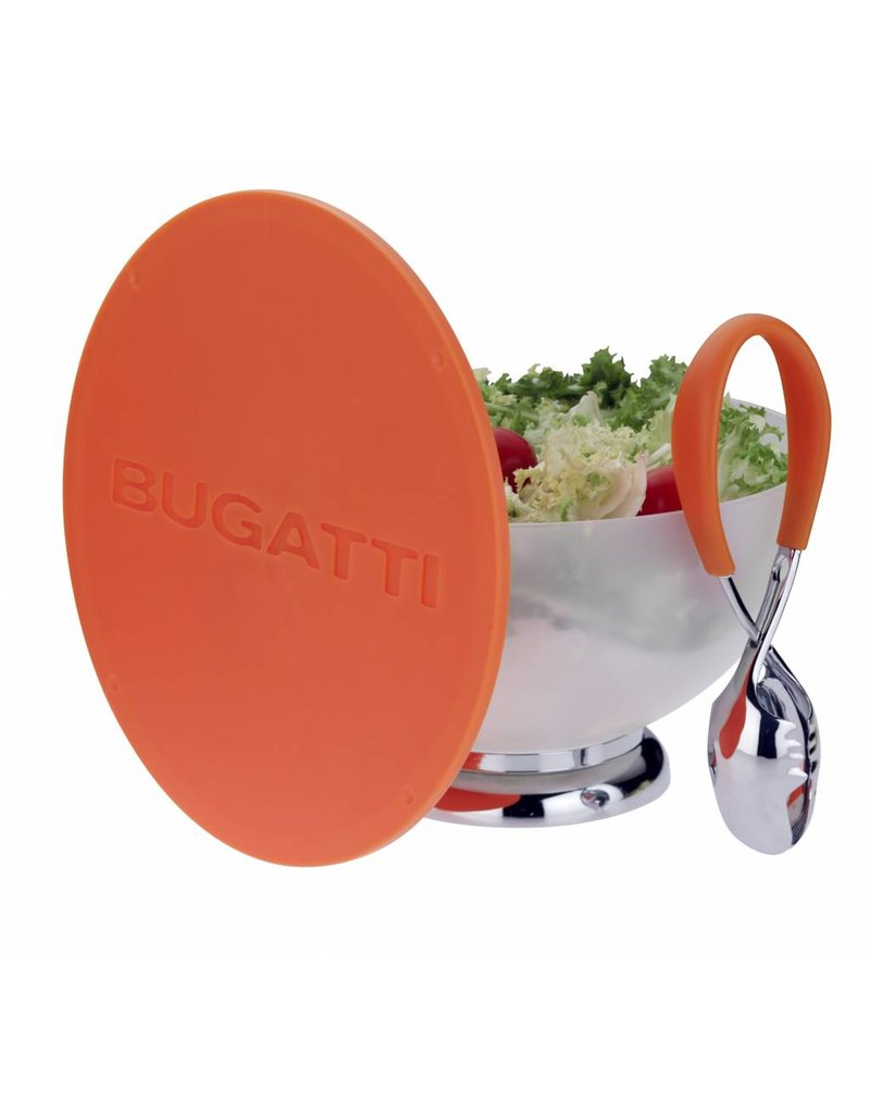 Bugatti Primavera & Mollakiss: Saladeschaal met slatang in oranje