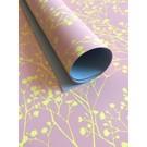 il7002 | illi | Ghypsophila Rose/Gelb - Geschenkpapier Bogen 50 x 70 cm