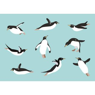cc067 | crissXcross | Penguins - postcard A6