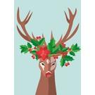cc068 | crissXcross | Decorated Deer - postcard A6
