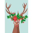 Postcard - Decorated Stag