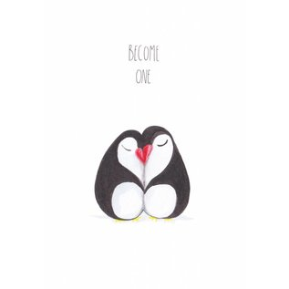 tg010 | Tabea Güttner | Become One - folding card  B6