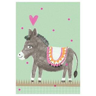 SG118 | schönegrüsse | Donkey - postcard A6