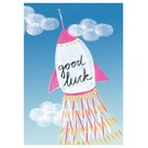 Postkarte - good luck rakete