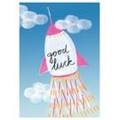 SG121 | schönegrüsse | good luck rakete - Postkarte A6