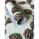 Wrapping Paper - Pinecone Branch Light Blue