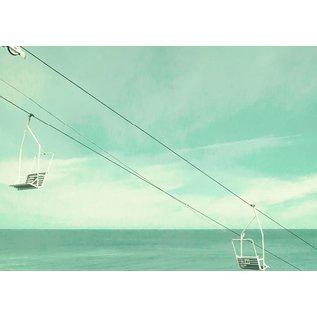 b027 | brocante | Chairlift - postcard A6