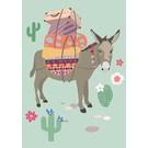 Postkarte - Packesel