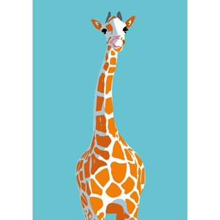 cc029 | crissXcross | Giraffe - postcard A6