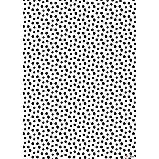 il7023 | illi | Nokta - Schwarz-Weiss - Geschenkpapier Bogen 50 x 70 cm