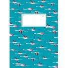 Notizheft - Flying Flamingos