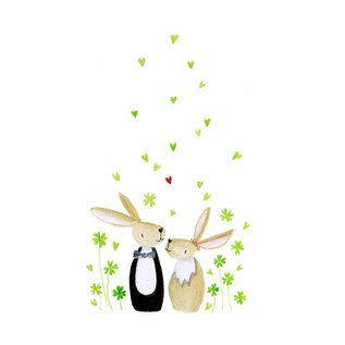 tg023 | Tabea Güttner | Bunnies - folding card  B6