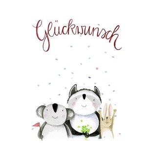 tg026 | Tabea Güttner | Congratulations - folding card  B6