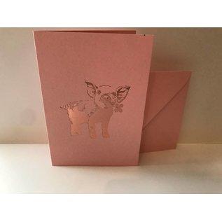 pu043   Pure   Pig - folding card  B6