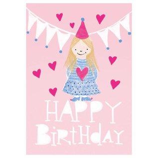 SG155 | schönegrüsse | Happy – Little Girl - Postkarte A6