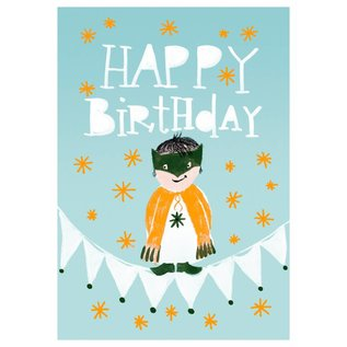 SG154   schönegrüsse   Happy – Little Boy - Postkarte A6