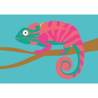 lu035 | luminous | Chameleon - postcard A6
