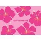 lu042   luminous   Flower Birthday - postcard A6