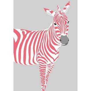 Postkarte - Zebra