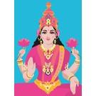 lu054 | luminous | Lakshmi - postcard A6