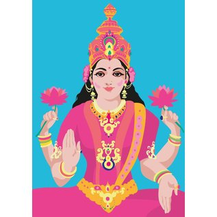 lu054   luminous   Lakshmi - postcard A6