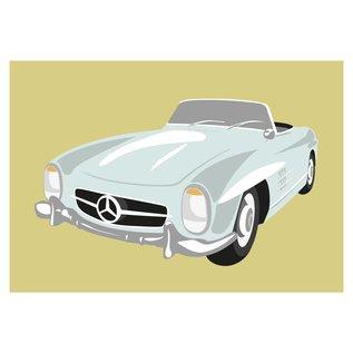 cl003 | Classic | Mercedes 300SL, 1960 - postcard A6