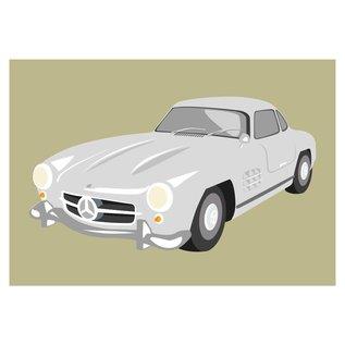 cl004   Classic   Mercedes 300SL, 1954 - postcard A6