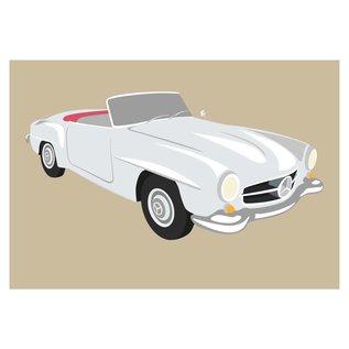 cl005 | Classic | Mercedes, 190SL, 1957 - postcard A6