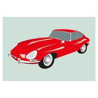 cl006 | Classic | Jaguar E-Type, 1955 - Postkarte A6