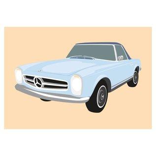 cl007   Classic   Mercedes 280SL Pagode, 1968 - postcard A6
