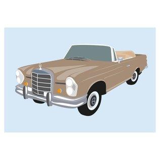 cl008 | Classic | Mercedes 300 SE, 1966 - Postkarte A6