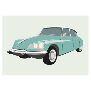 cl009 | Classic | Citroen DS 21, 1969 - Postkarte A6