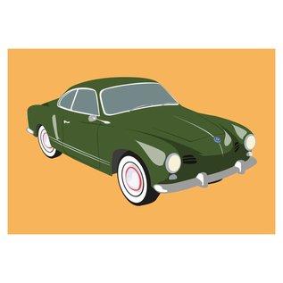 cl010 | Classic | VW Karmann Ghia, 1950 - Postkarte A6