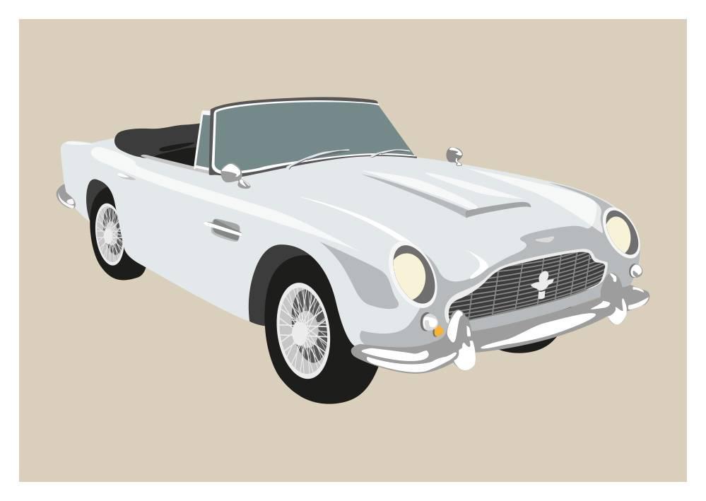 Classic Aston Martin Db9 1965 Nobis Design Postkarten Und Mehr