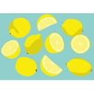 Postkarte - Zitronen