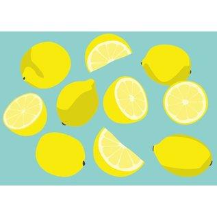 crissXcross Postkarte - Zitronen