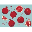 Postcard - Pomegranate