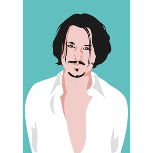 pop art new generation Postkarte - Johnny Depp