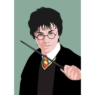 pop art new generation Postkarte - Harry Potter