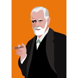 pop art new generation Postkarte - Sigmund Freud