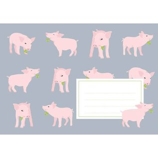 crissXcross Briefumschläge C6 - Schwein
